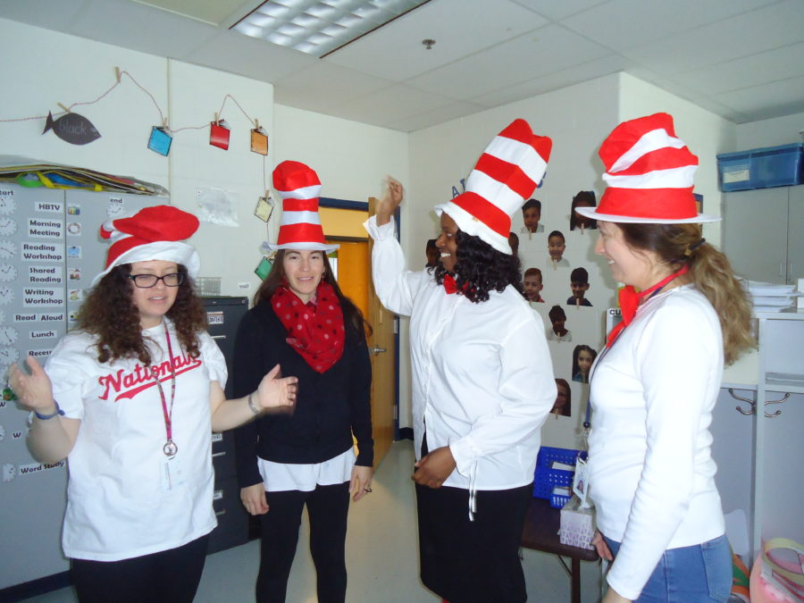 Staff dressed as Cat in the Hat