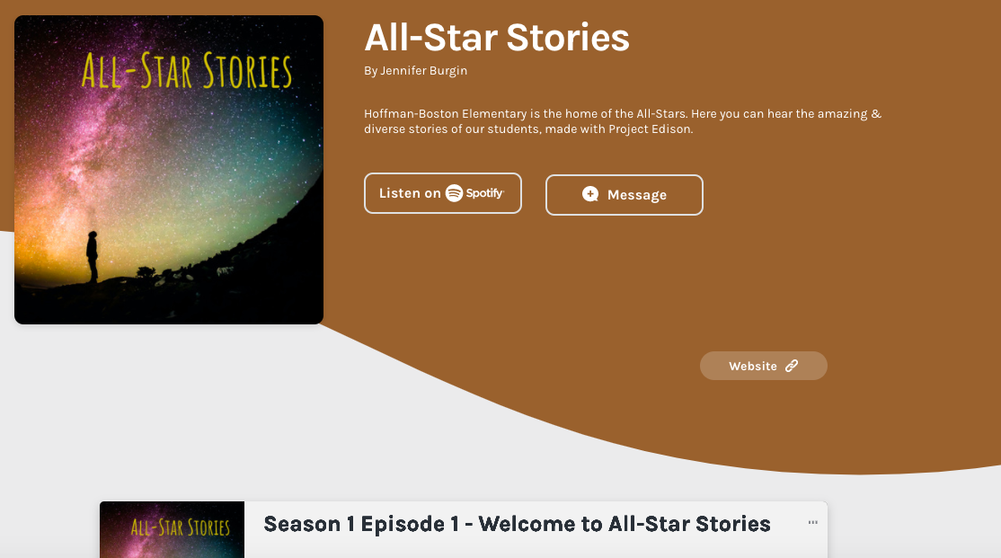 All-Star Stories page preview