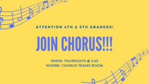 4th and 5th graders chorus club